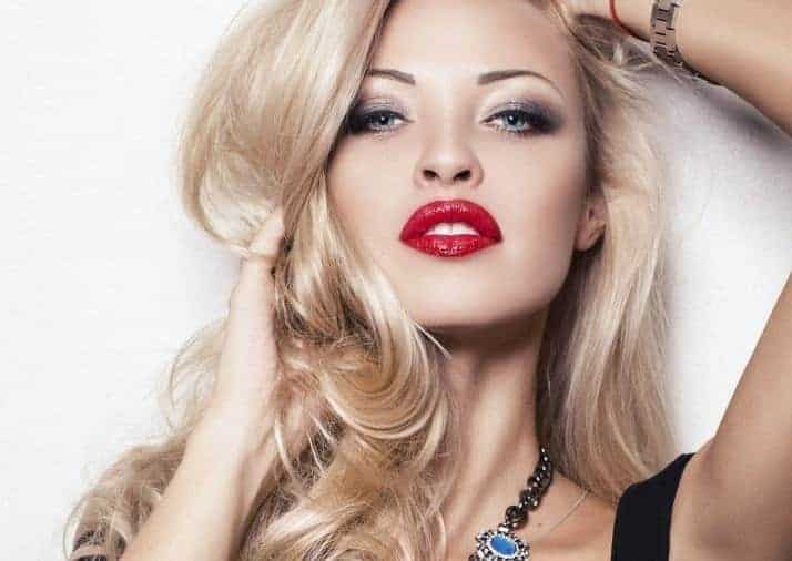 Red Lipstick for Blonde Hair