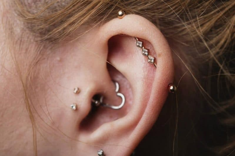 double tragus piercing jewelry bars
