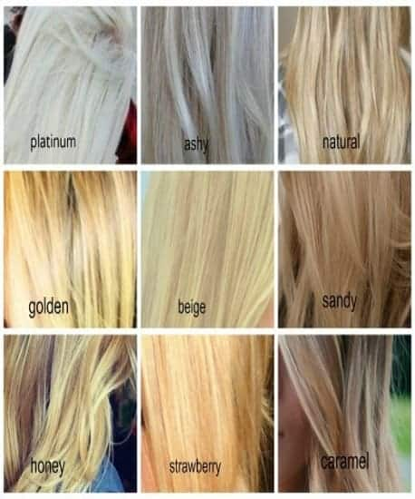 Different Shades of Blonde Hair Color