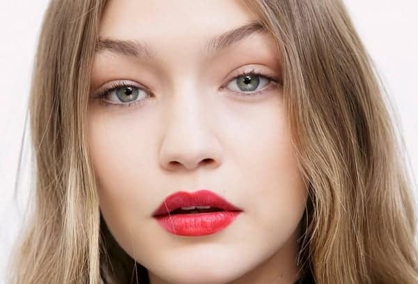 Red Lipstick for Blonde Hair with fair skin