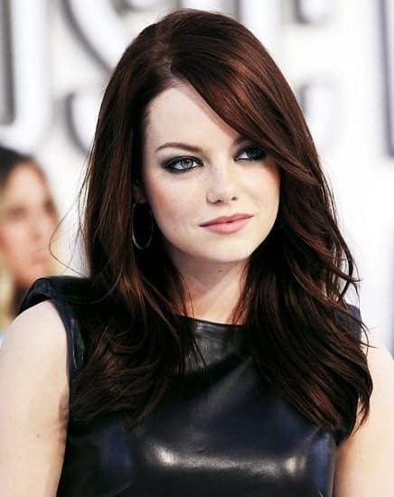 trendy dark auburn hair color for girls