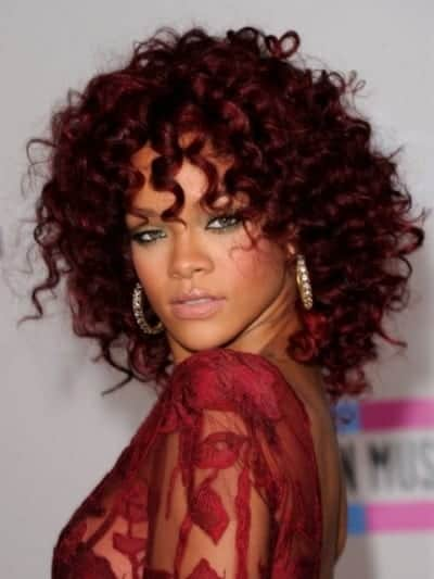 Light Auburn on Black Hair Color