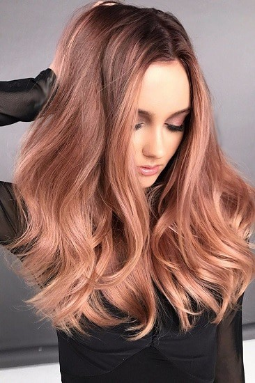 stunning light reddish brown hair color for women