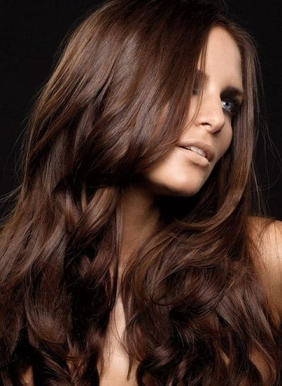 chocolate brown hair color for girls