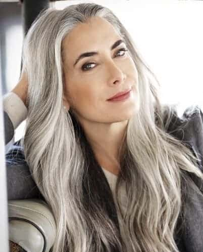 growing out natural gray hair for women