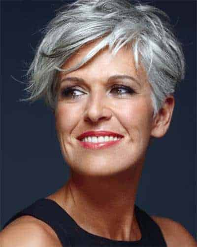 gray hair styles with short hair
