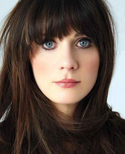 brunette hair color for blue eyes