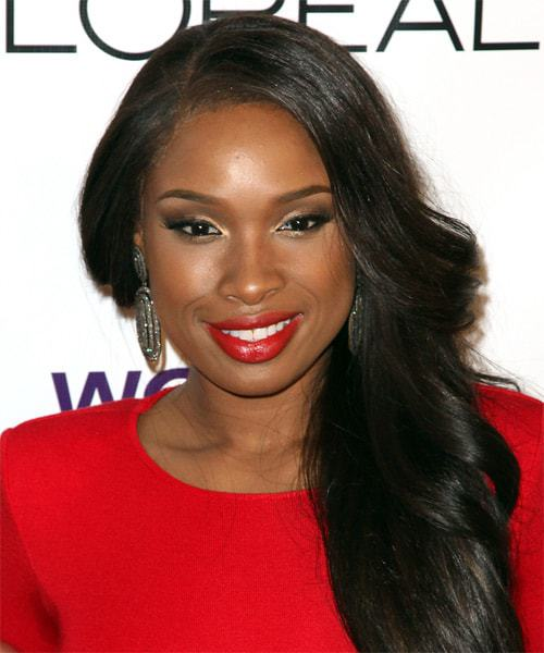 dark skin celebrities with red lipstick