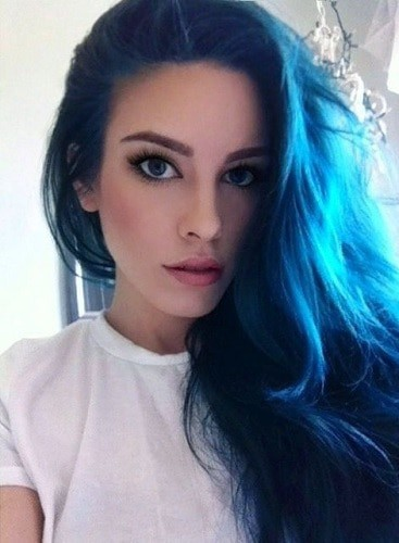 Cool Splat Blue Hair Color