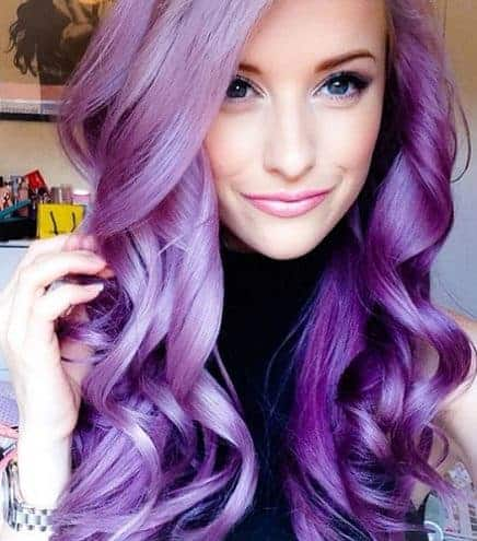 Modish Splat Purple Hair Color Ideas