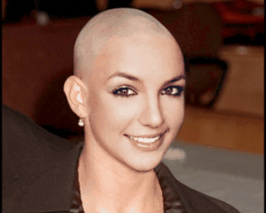 Head shaved woman