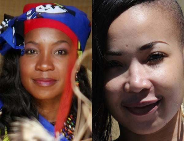 Mshoza before and after skin bleaching