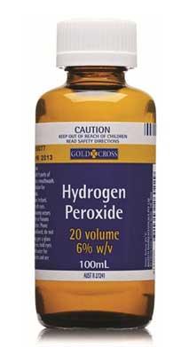 does hydrogen peroxide lighten skin