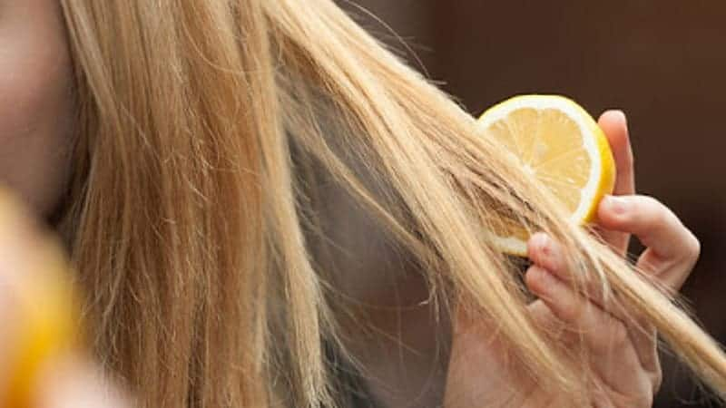 Does Lemon Juice Lighten Hair Permanently With Heat In Without