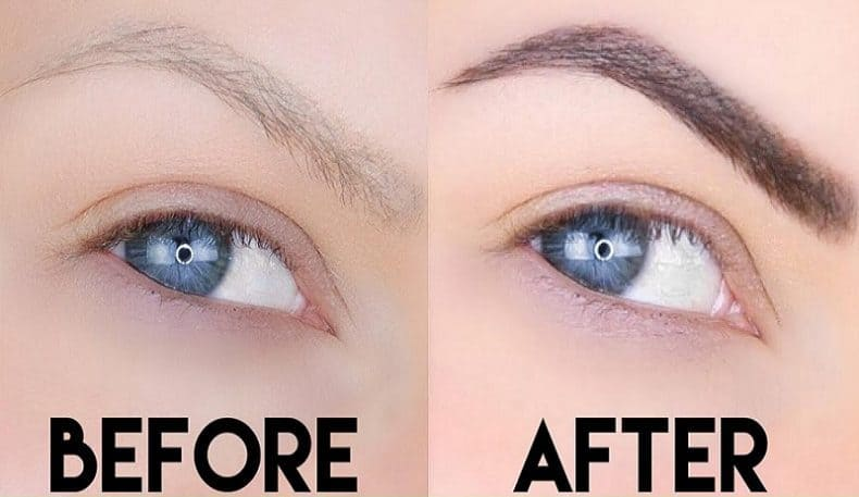 Tinted Eyebrows Before and After, How to Lighten, Fade ...