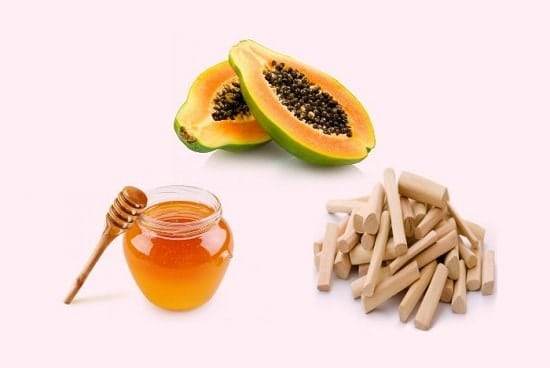 honey and sandalwood to cure skin spots